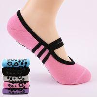 Kadınlar Anti Kayma Bandaj Pamuk Spor Yoga Çorap Bayanlar Havalandırma Pilates Bale Çorap Dans Çorap Terlik 6 Renkler