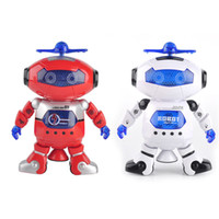 2 Colors Smart Space Dance Robot Electronic Walking Toys Wit...