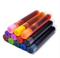 8/12 pcs / lot jetable couleur stylo plume cartouches d'encre recharges Recharge stylo design universel