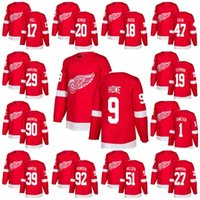2018 Stitched Red Wings Jersey Jersey Hommes Gordie Howe 19 Steve Yzerman 20 Dan Renouf 47 Libor Sulak Maillots De Hockey Robbie Russo Rouge