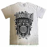 6ce795b4ed64 Miss May I - Globe - Maglietta da uomo Slim Fit T Shirt da uomo marca cotone  da uomo