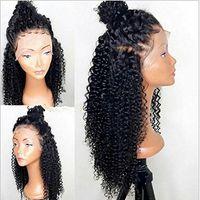 360 Spitze Frontal verworrenes lockiges Menschenhaar Perücken-Glueless 130% Dichte brasilianische Jungfrau Remy Perücken mit Baby-Haar für schwarze Frauen
