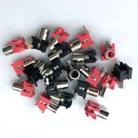 100 unids rojo y 100 unids negro RCA Socket AV Pin Jack 3PINS con interruptor de montaje en PCB 3PINS PARA CCTV amplificador
