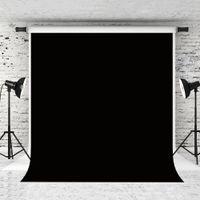 Sueño 5x7ft / 150x220cm telones de fondo Negro puro retrato para el fondo fotógrafo apoyo de la fotografía Adultos Estudio Backdrops