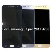 터치 스크린 디지타이저 어셈블리 밝기 조정과 삼성 Galaxy oled J7 Pro 2017 J730 J730F LCD 디스플레이 용 Amoled