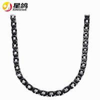 Collana a catena bizantina nera d'acciaio inossidabile d'avanguardia di design per gli uomini e le donne all'ingrosso della catena piana delle donne