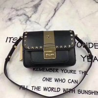2018 New Woman Brand Classic Lock Flap MKOES Rivet Luxury Sh...