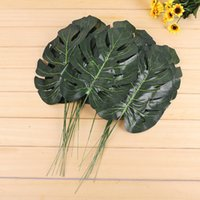 10pcs Green Artificial Turtle Bamboo Leaves Artificial Palm ...