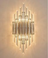 Modern Breve Luzes de Parede Sala de Cabeceira Breve Lâmpadas de Parede Arte Criativa Corredor Da Escada LEVOU Lâmpada de Parede de Cristal Arandela LLFA
