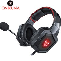 ONIKUMA K8 Casque PS4 Gaming Headset Cuffie stereo per PC Cuffie con microfono Luci a LED per tablet portatile / Nuova Xbox One