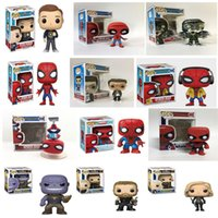 FUNKO POP Action Figures Marvel The Avengers 3: Infinity War Super Hero Spider-Man modello action figure in PVC per il regalo dei bambini