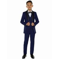 2019 günstige Jungen Blazer Kinder Jungen Anzüge für Hochzeiten Prom Anzüge Formelle Kleidung für Jungen Kinder Smoking Kinder Kleidung Set (Jacke + Pants + Weste)