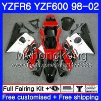 Corpo per YAMAHA YZF600 YZF R6 1998 1999 2000 2001 2002 230HM.37 YZF-R6 98 YZF 600 cornice bianca nera YZF-R600 YZFR6 98 99 00 01 02 Carenature