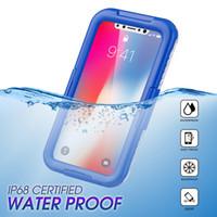 مع مربع التجزئة تحت الماء للماء القضية لسامسونج S8 زائد S6 حافة S7 حافة الحالات السباحة الغوص أكياس الهاتف لفون X 8Plus