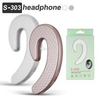S303 Bluetooth Casque Mini Sans Fil Écouteur Oreillette Casque Aucun Earplug Indolore Mains Libres Sport Écouteurs avec Micro dans la Boîte de Détail
