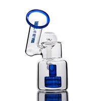 "Blue stereo marix 5. 7"" tall small glass bongs with dome..."