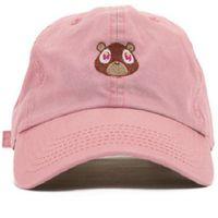 2018 West Ye Bear Dad Hat Beau Capuchon de baseball Été pour hommes Femmes Snapback Caps Unisexe Libération exclusive