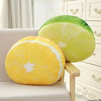 Stuffed Orange Lemon Plush Pillow Simulated Fruits Seat Cush...