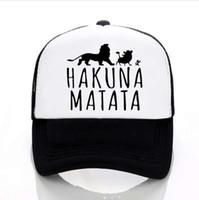 Neue Hakuna Matata brief drucken baseball-kappen männer Frauen Sommer Mesh cap Mode im freien sunhat männer trucker cap
