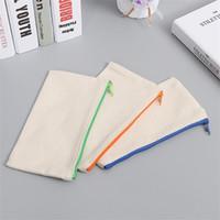 قماش سستة حالة من رصاص القلم حقيبة عالية السعة فرشاة التجميل حقائب الطالب القرطاسية المقالات 1 68jy C