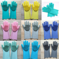 Magic Silicone Scrubber Rubber Cleaning Gloves Dusting Dish ...