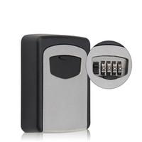 Caja de bloqueo de claves de combinación de dígitos Organizador de almacenamiento de seguridad de la seguridad de la pared del exterior