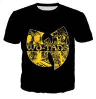 Il nuovo modo 3D maglietta casuale Wu Tang Clan estate Uomini e Donne Style Top manica corta creativo stampato Tees ZCQ028