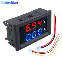 مصغرة الرقمية الفولتميتر مقياس التيار الكهربائي 100V 10A لوحة أمبير فولت الحالي متر فاحص 0.28