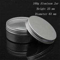 EMS 500 шт. / лот емкость 100 г (83*25 мм) высококачественные алюминиевые косметические контейнеры с резьбой