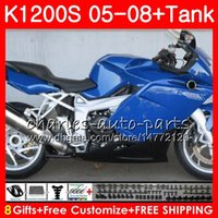 Corpo para OEM K1200 S K 1200 S 05 10 K1200S 05 06 07 08 09 10 103HM.15 K-1200S K 1200S 2005 2006 2007 2008 2009 2010 Glossy Blue Fairing Kit