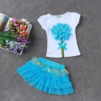 Casual Clothing Set Baby Girl Dresses 2 Pieces Floral T- shir...