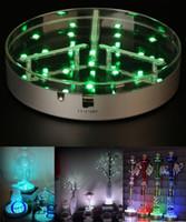 Led Light Base Under Table Piece Vase RVB Lumière avec Emote Control pour Verre Narguilé Shisha Tuyau D'eau De Mariage Décoration Lampes