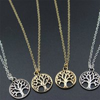 Vintage Tree of Life Pendant Necklaces Antique Silver & Gold...
