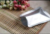 18x26cm, 100pcs aluminium pur sacs plats - argent metillic blanc poche purement papier, plastique mylar emballage de cacao sac ordinaire alimentaire