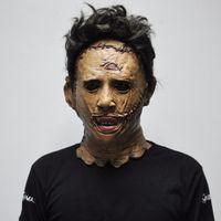 Venda quente The Texas Chainsaw Massacre Leatherface Máscaras Assustador Filme Cosplay Halloween Traje Adereços de Alta Qualidade Brinquedos