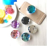 cristallo di diamante telefono Sockets glitter supporto per Smart phone Quicksand telefono di sostegno del basamento compresse per iPhone 9 X più Samsung Galaxy
