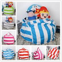 17-Zoll-Kinder Schränke Bean Bags Plüschtiere Streifen Leinwand Sitzsack Schlafzimmer Stuffed Buggy Tasche Tragbare Kleidung Organizer-Taschen Tasche heiß