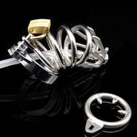 Новый замок мужской пояс верности петух клетка целомудрие устройства секс игрушки с 4 кольцами пениса для мужчин SM фетиш продукт секса