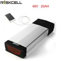 48V 20Ah Samsung Lithium Batterie Gepäckträger Typ 48V Elektro Fahrrad Batterie Für 48V 1000W Bafang BBS HD Motor mit USB Anschluss