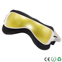 Электрический DC вибрации глаз Массажер машина Музыка Magnetic давления воздуха качество Инфракрасный обогрев Массаж очки Уход за глазами устройства Хороший
