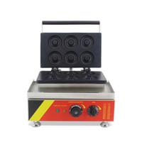 satılık makine elektrikli mini çörek waffle makinesi yapma makinesi BEIJAMEI Mutfak Ekipmanları Ticari Donut çörek
