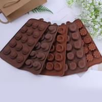 Diy кухня плесень шоколад пищевой силиконовый блок выпечки торт конфеты плесень льда решетки куб чайник лоток нетоксичный 2 3hq ZZ