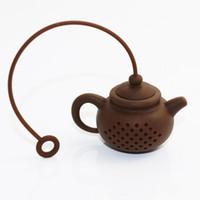 الإبداعية سيليكون مصافى الشاي كيس شاي وعاء الشكل تصفية infusers آمنة نظيفة إبريق الشاي شكل مصفاة المطبخ