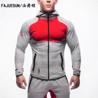 Mens Bodybuilding Hoodies Entraînement d'entraînement de Sweatshirt Camouflage Coupe Slim Fit Manteau de sport en plein air tops