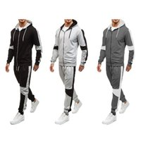 2018 Fashion Men Casual Gym Bodybuilding Tracksuits Fitness Trousers Sweatpants Tops+Pants
