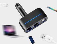 3.1a Dual output 12/24 Nuovo USB Caricabatteria da auto Presa 2 Vie auto Auto Sigaretta Accendisigari Car Carica caricabatterie Splitter 2 USB Caricatore Adattatore di alimentazione