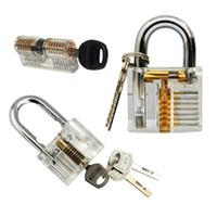 شفافة 3 قطع الممارسة قفل مجموعة custaway قفل / بليد / اسطوانة قفل اختيار أدوات القفل التدريب