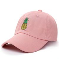0eb97eaf8fc83 VORON nueva piña gorra de béisbol bordada divertida fruta fresca Hipster  sombrero piña papá sombrero gorra