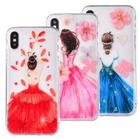 Phone Case For iPhone X 7 8 Plus flower girl back cover For ...