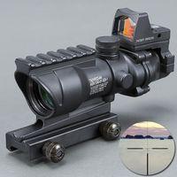 Trijicon Прицел 20мм ласточкин Reflex Optics Scope Tactical Вздох ACOG 4X32 высокого качества Scope телескоп BK Бесплатная Доставка